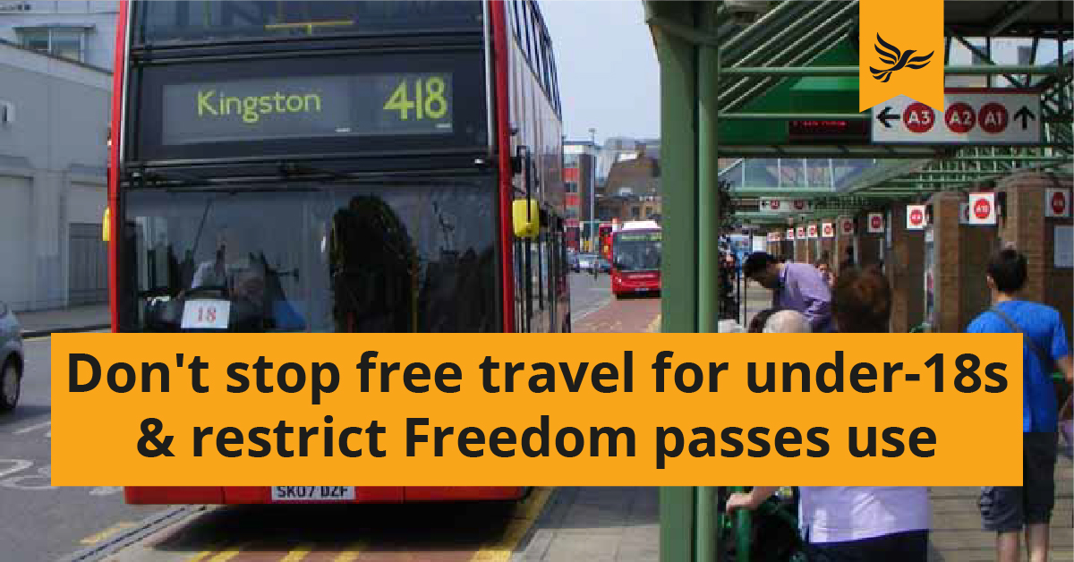 Don't stop free travel for Under-18s and restrict older people's Freedom passes