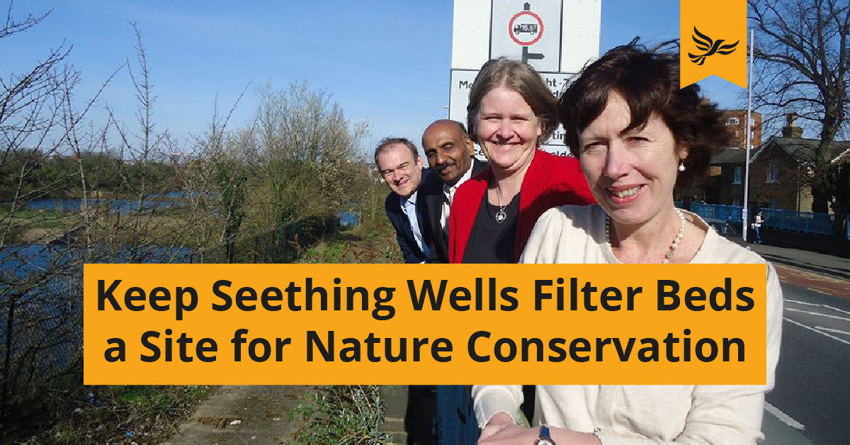 Keep Seething Wells Filter Beds a Site of Importance for Nature Conservation