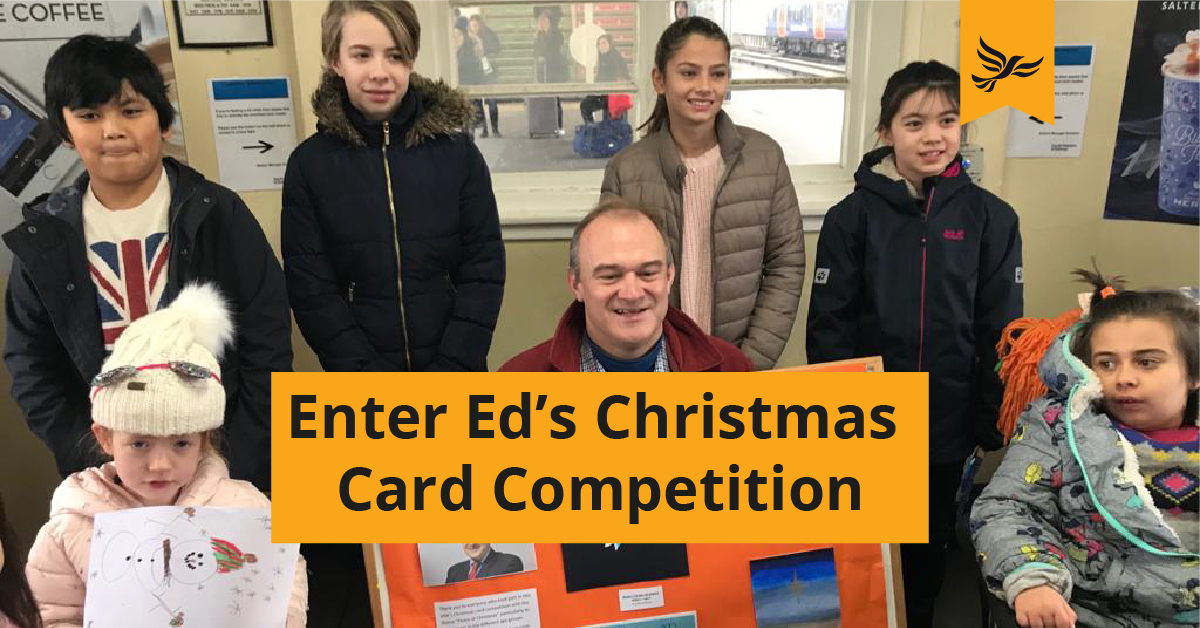 Enter Ed's 'Caring at Christmas' competition