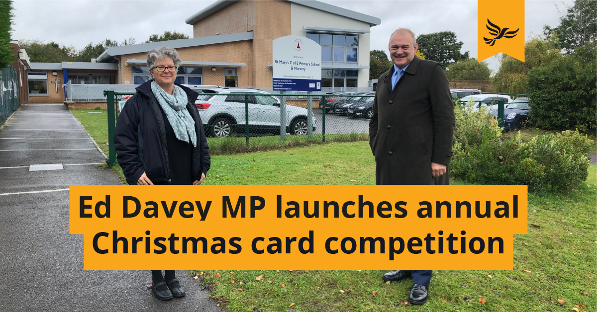 Ed Davey MP Launches 2020 Christmas Card Competition