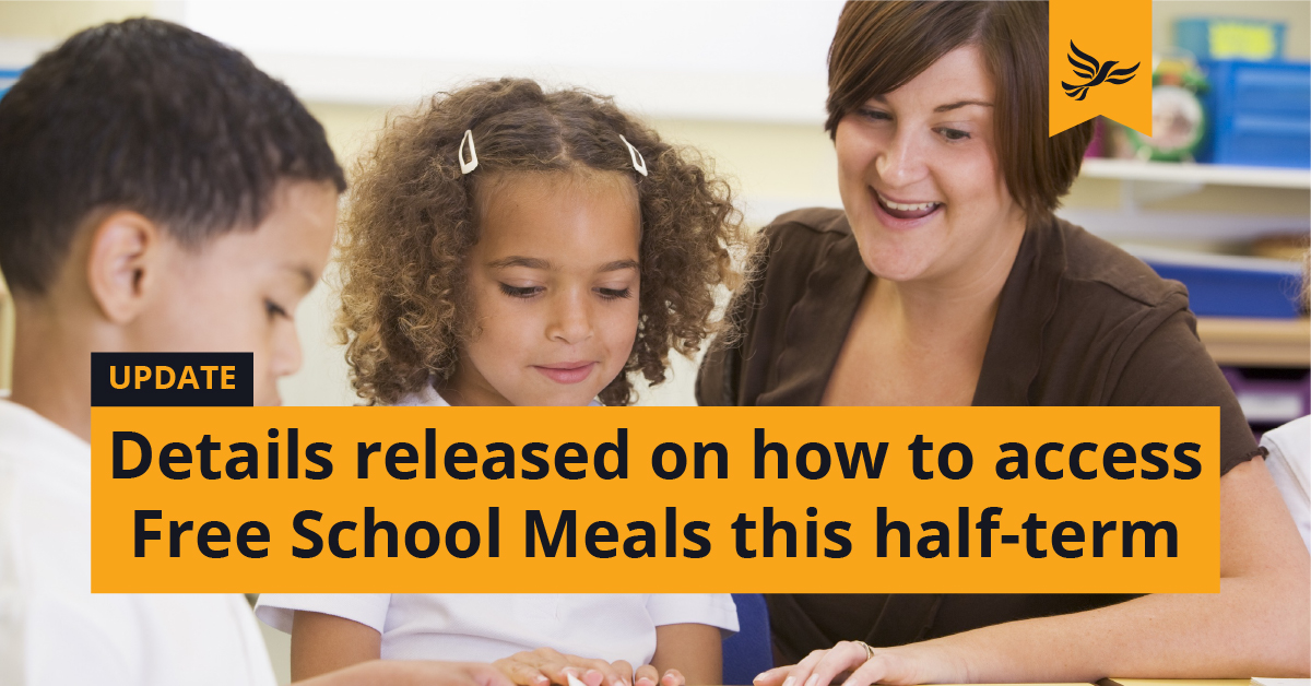 Further details on half-term Free School Meals released