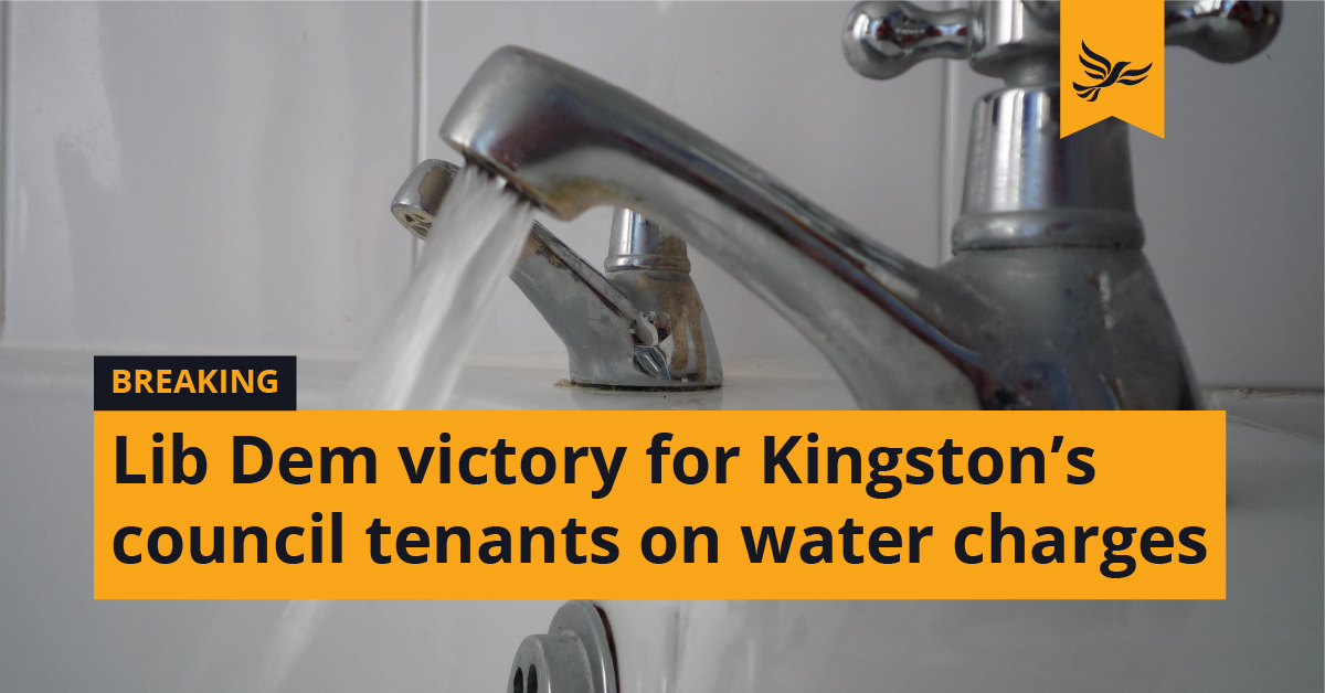Lib Dem victory for Kingston's council tenants on water charges