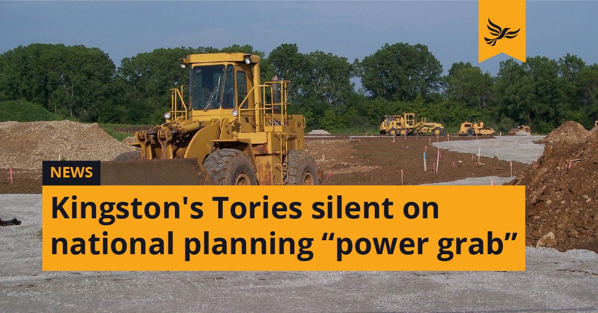 Kingston's Tories silent on national planning
