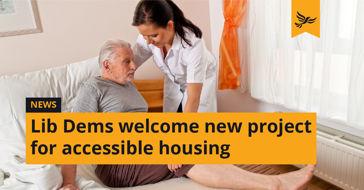 Lib Dems welcome new project for accessible housing
