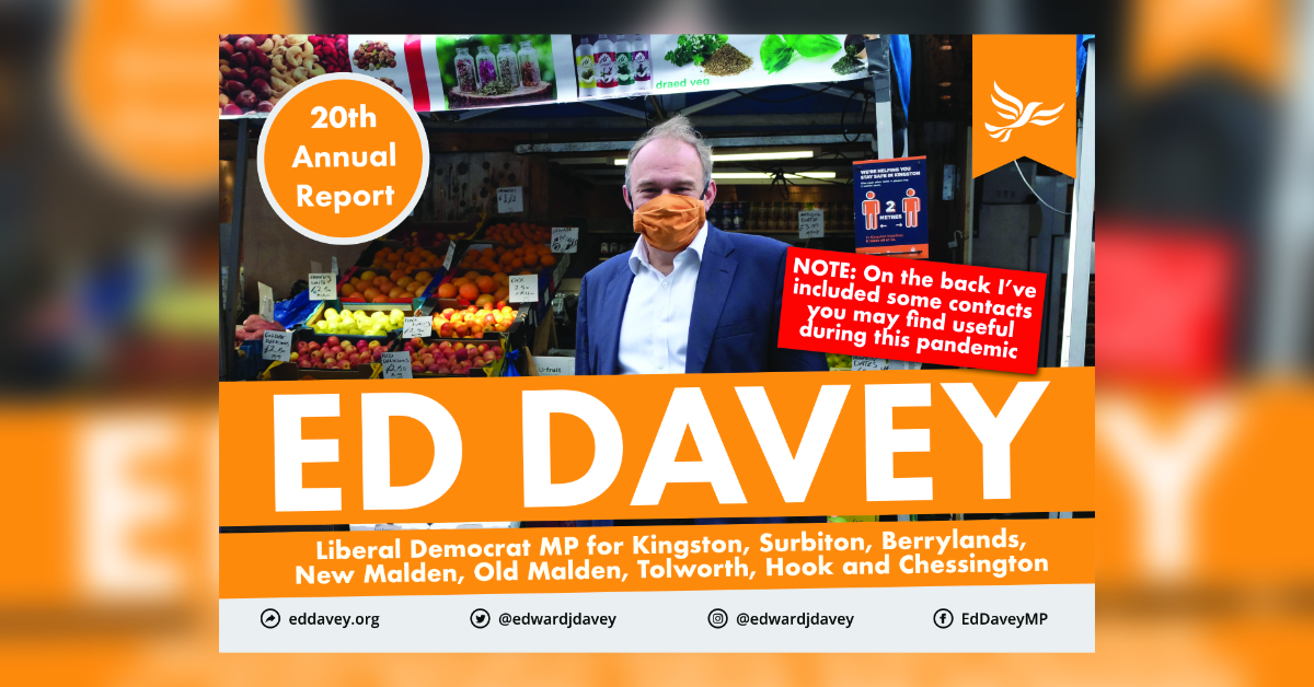 Read Ed Davey MP's latest Report Back