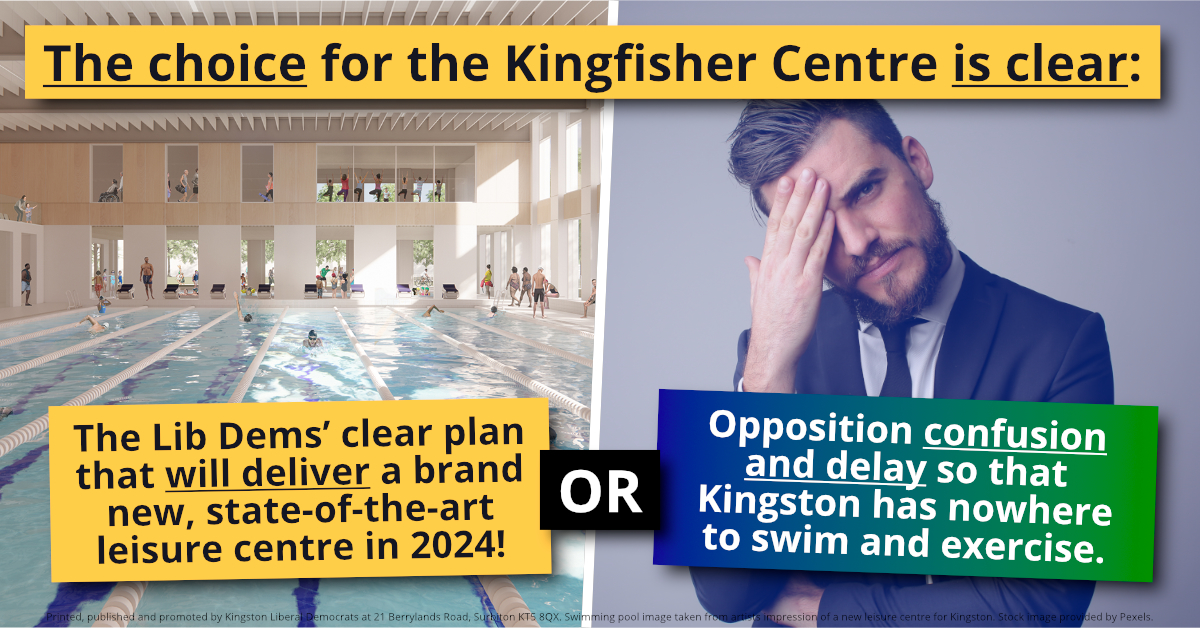 Lib Dems clear vision on a new leisure centre for Kingston