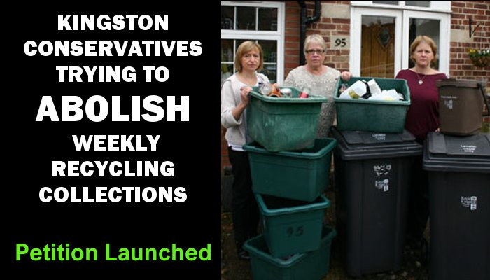 Save our weekly recycling - sign the petition