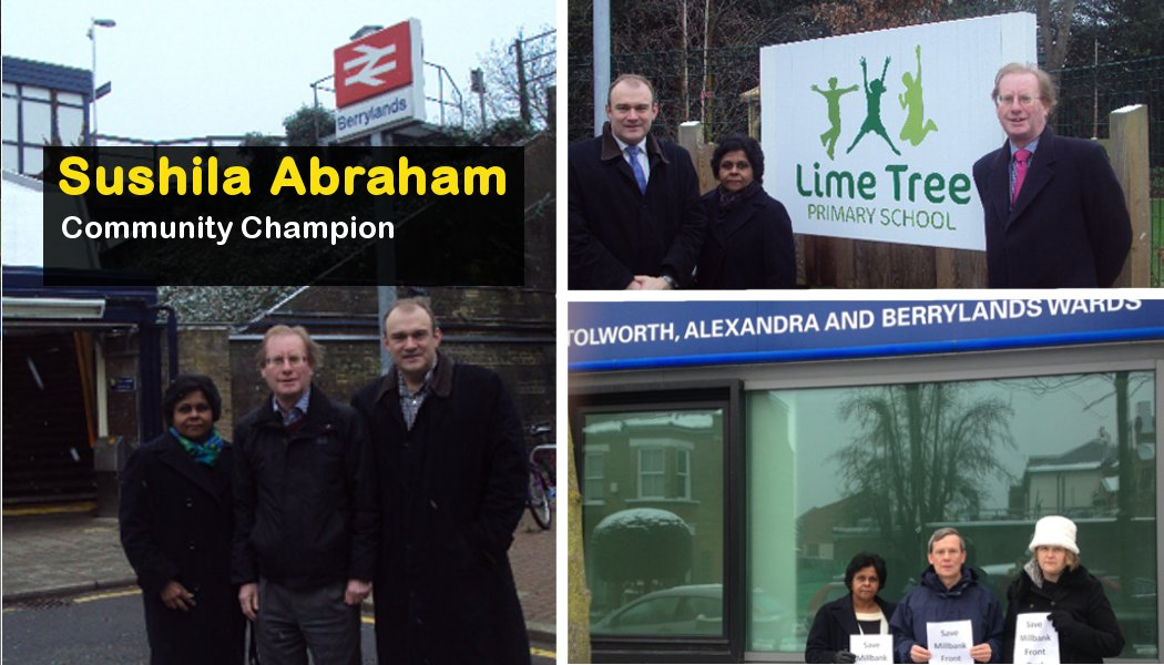 Sushila Abraham selected for Berrylands by-election