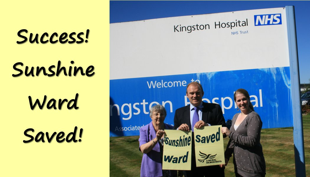 "Sunshine Ward Saved - Lib Dems stop ""the inevitable"""