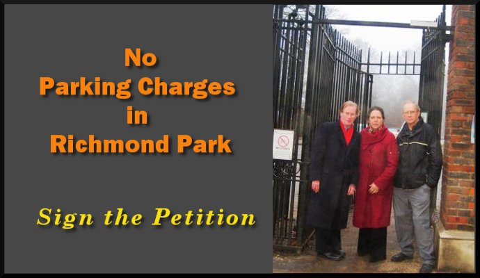 No to car parking charges in Richmond Park and Bushy Park