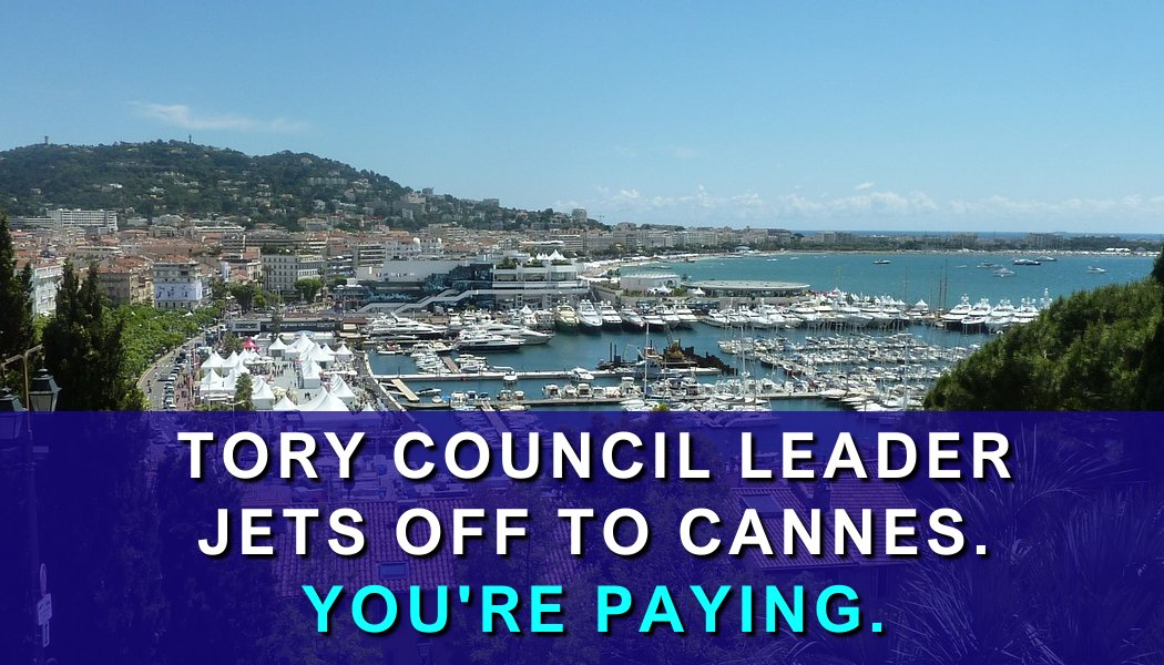 Tory Leader off to Cannes at council taxpayers' expense