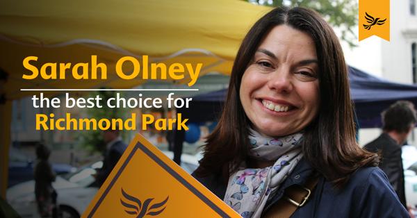 Congratulations to Sarah Olney MP!