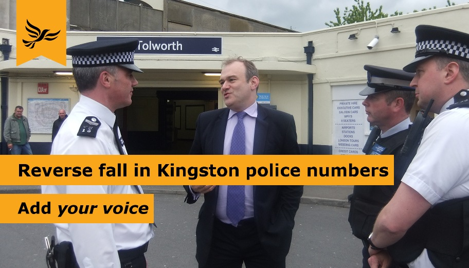 kingston police numbers cuts petition