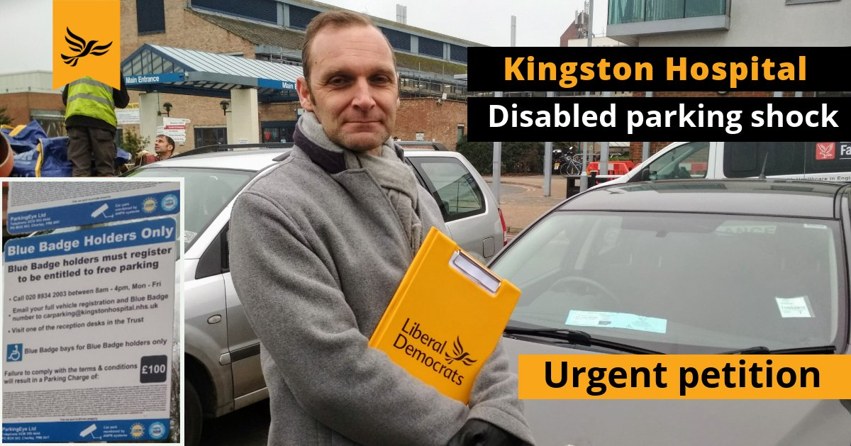 Kingston Hospital shocking new disabled parking charges