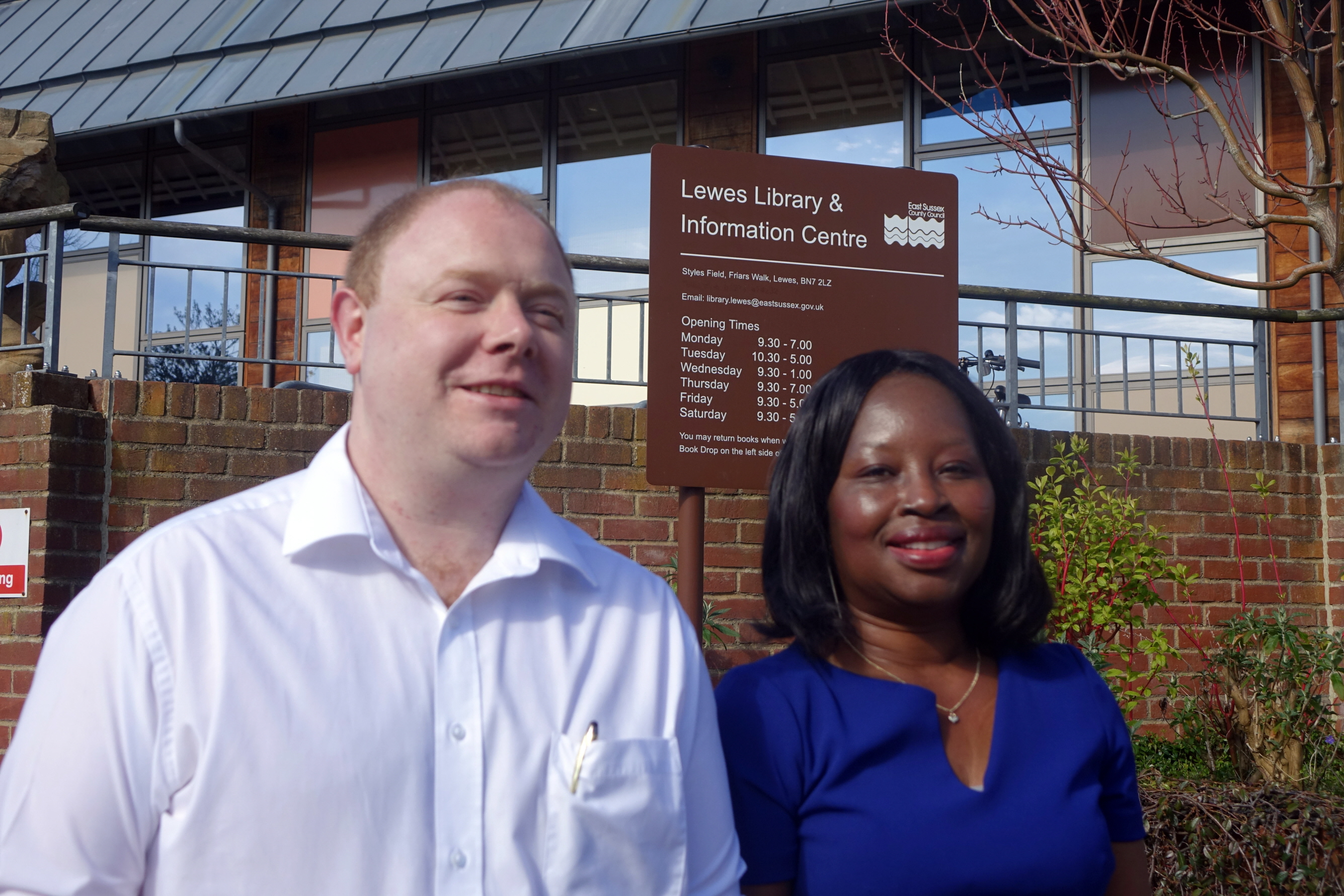 Cllr_Will_Elliott_and_Janet_Baah_outside_Lewes_Library_small_pic.jpg