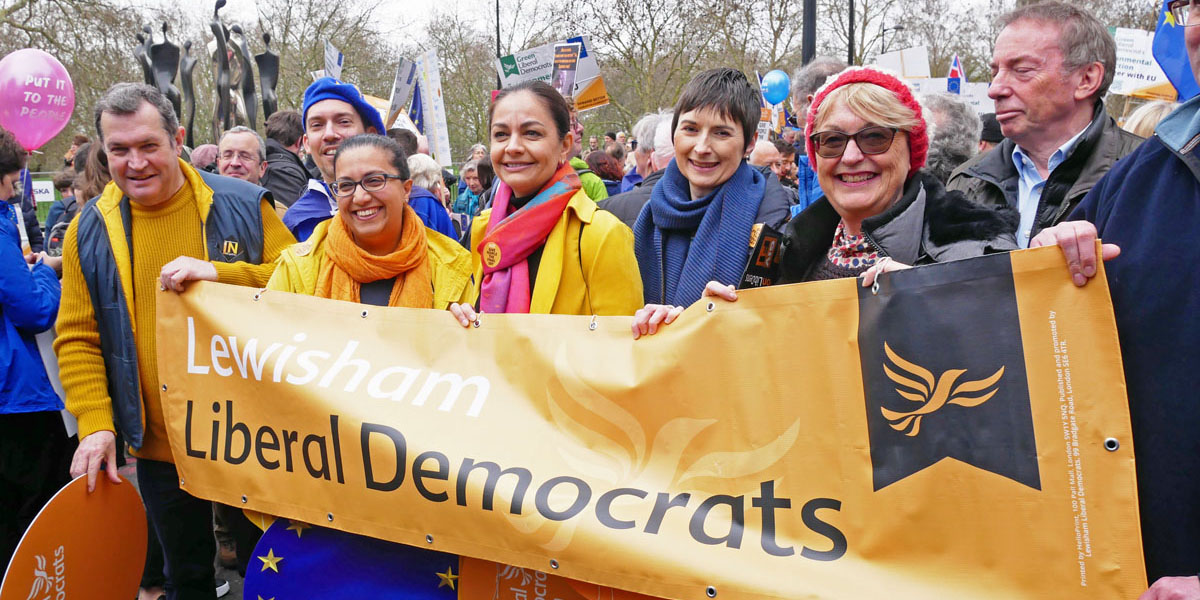 Lib Dems praise Lewisham residents for leading opposition to Brexit