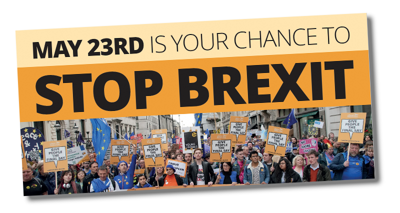 Stop Brexit leaflet for 23rd May