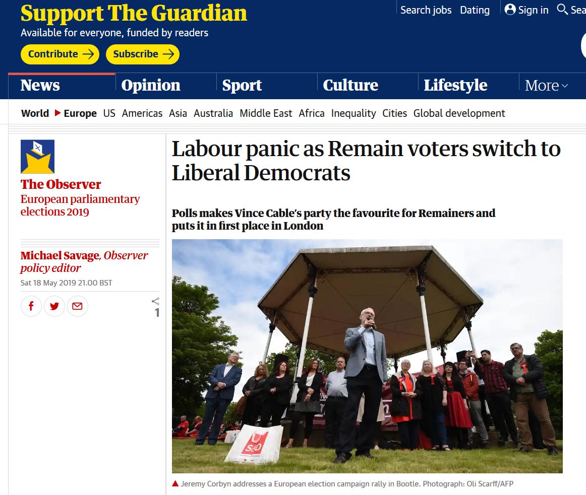 Stop Brexit - Vote Lib Dem on Thursday
