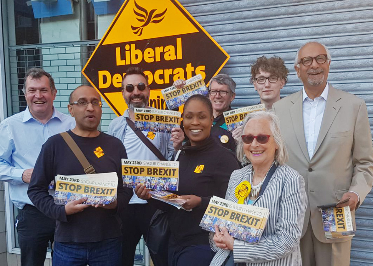 Lib Dems in Lewisham campaigning to stop Brexit