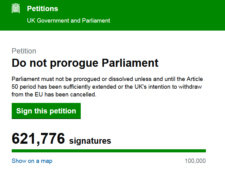 URGENT - Do not prorogue Parliament - SIGN NATIONAL PETITION