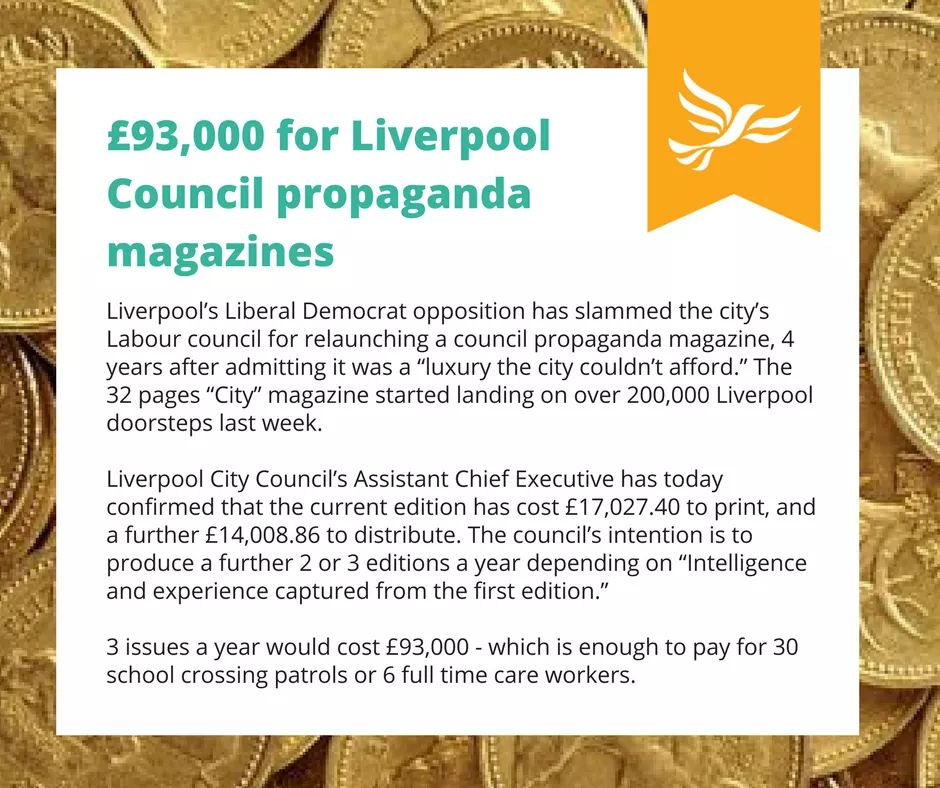 £93,000 for Liverpool Council propaganda magazines