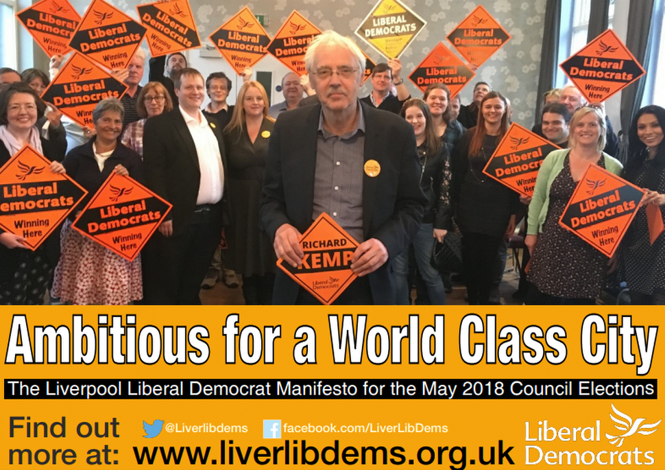 Liberal Democrats launch manifesto ahead of the 2018 local elections