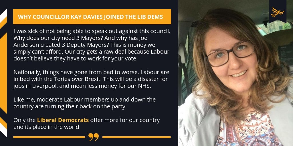 Councillor Kay Davies joins the Liberal Democrats