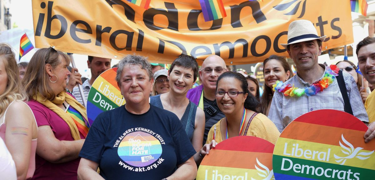 London Lib Dems celebrate London Pride 2018