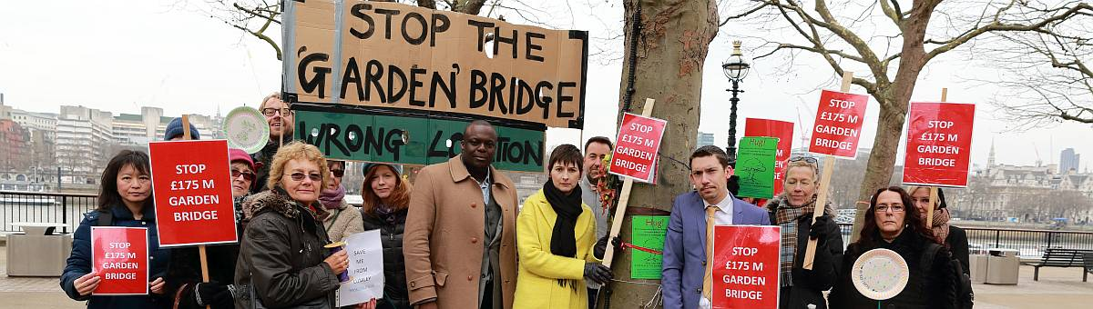 Caroline Pidgeon calls for Charity Commission investigation into the Garden Bridge project