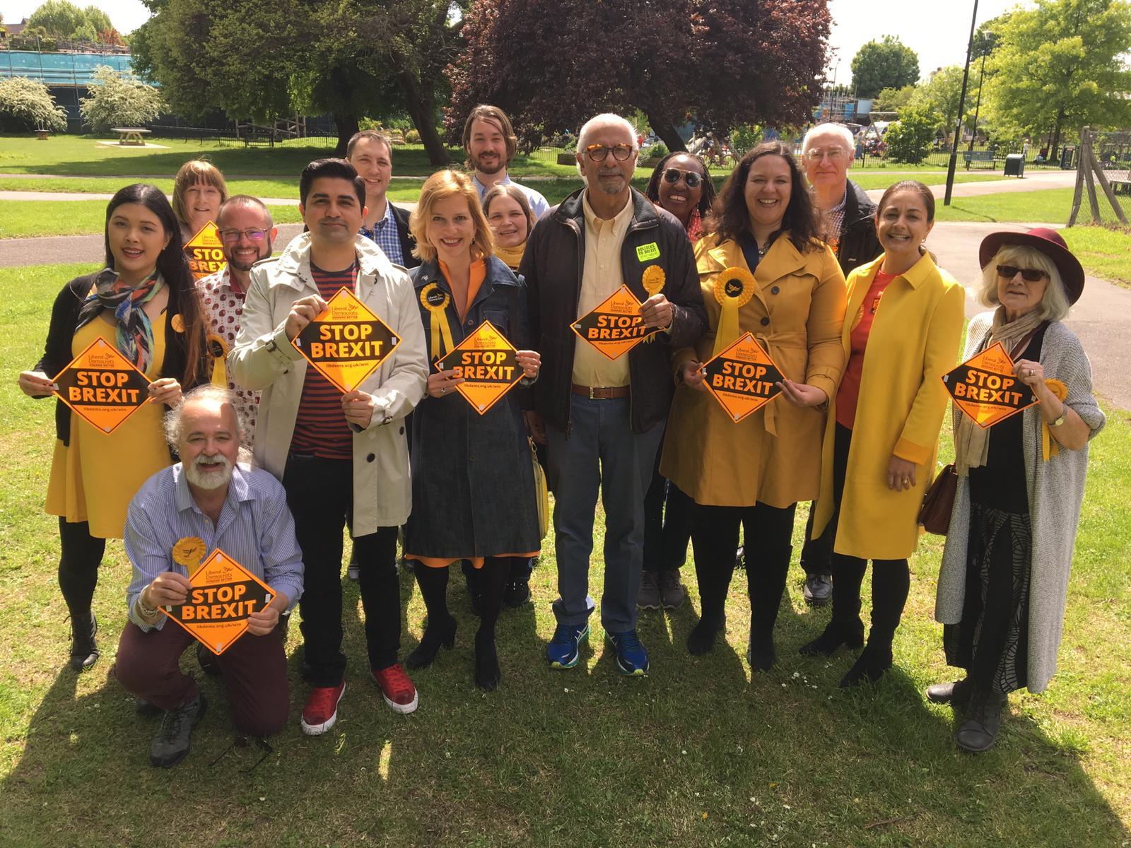 Lib Dem campaigners spread pro-Europe message across London