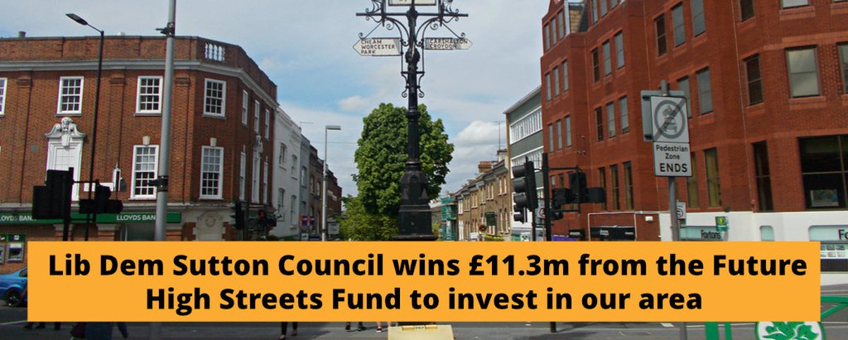 Sutton Lib Dems win funds to reinvent local high streets