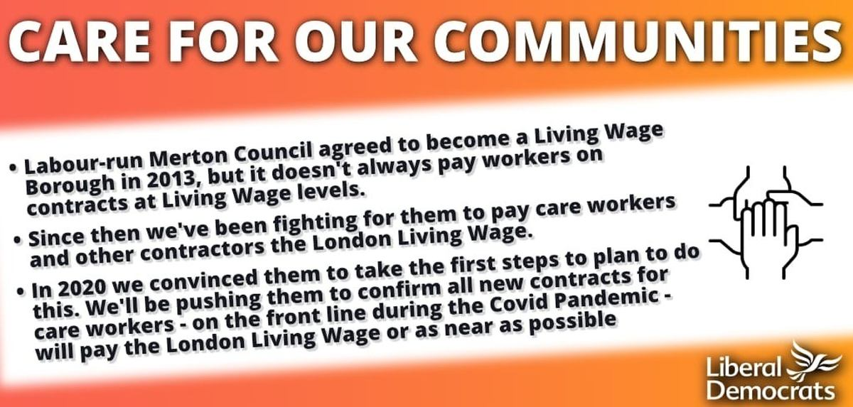Merton Lib Dems hail steps in securing living wages for contractors