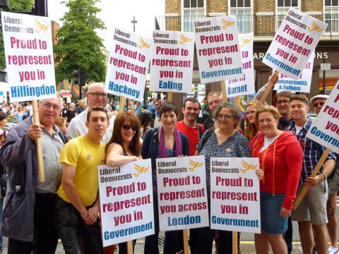 Caroline Pidgeon at Pride