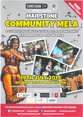 Maidstone Community Mela 2019 Sun 14th July