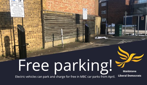 Free parking for electric vehicles from April