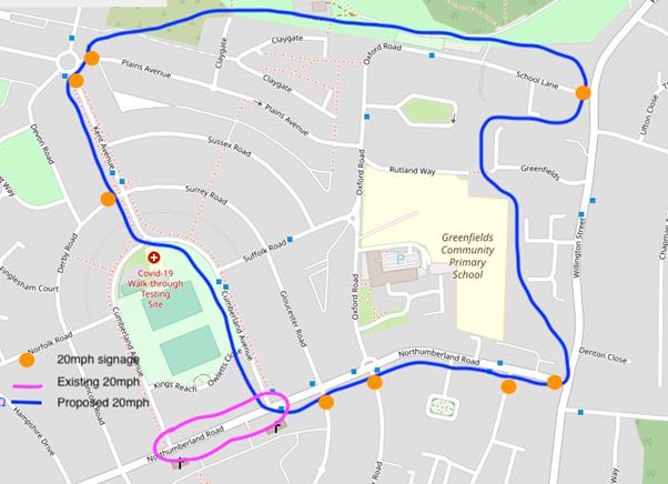 20 is plenty for Shepway North Ward - Greenfields