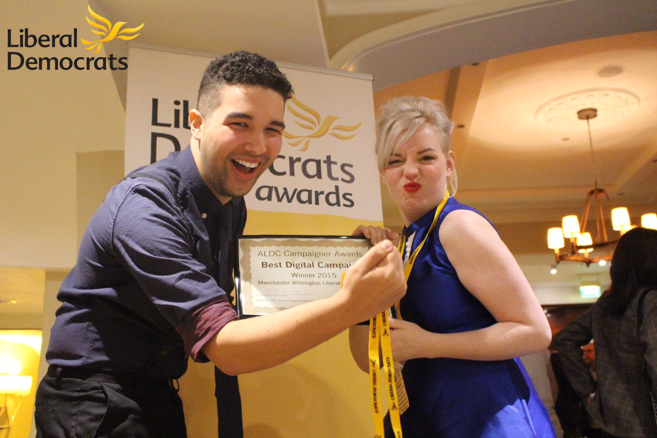 Pablo & April celebrate the award