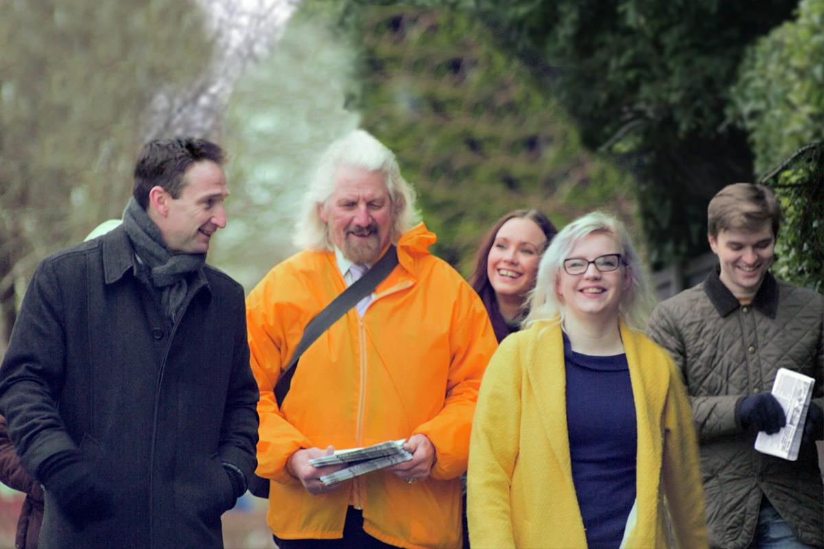 L-R: John Leech (Didsbury West), Norman Lewis (Chorlton park), Hannah Gee (Hulme), April Preson (Old Moat), Andrew McGuiness (Brooklands)