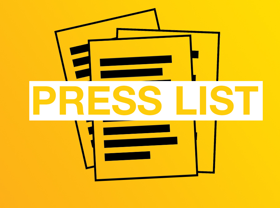 Join our Press List