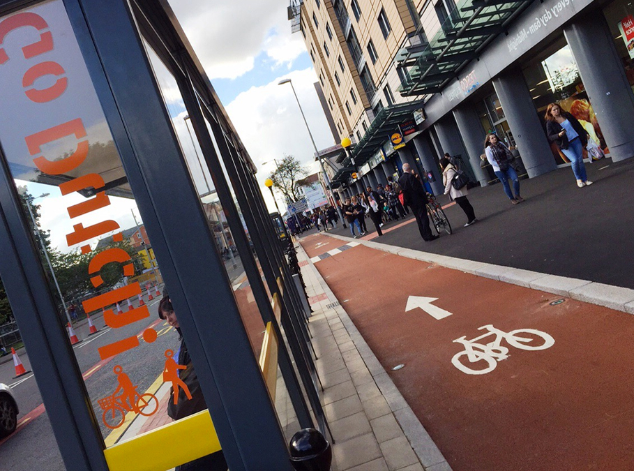 Demand cycle lanes in Manchester