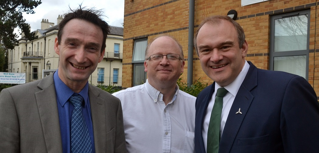 Ed Davey came to Parrs Wood to talk to pupils about making their school more energy efficient