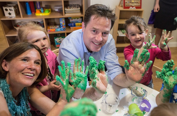 Nick Clegg and Vikki Slade getting their hands dirty in MDNP!