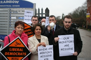 Campaigning on missing air monitors in 2009
