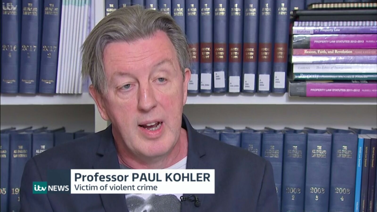 Paul Kohler speaking about the threat to Wimbledon Police Station on ITV News