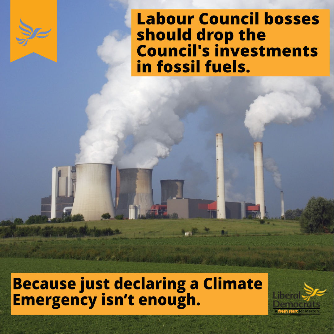 Stop supporting Fossil Fuels