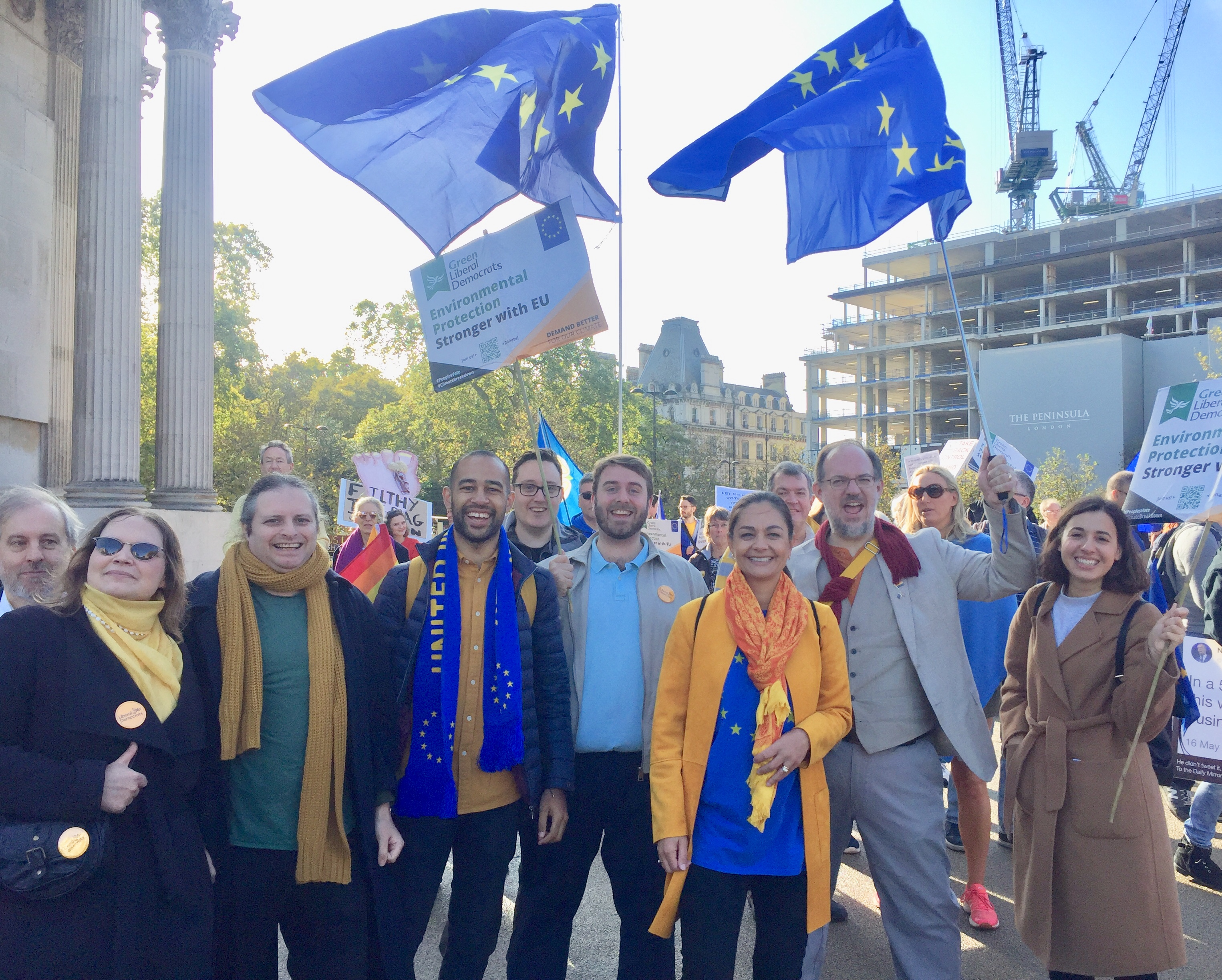 Lib Dems March for a People's Vote to Stop Brexit