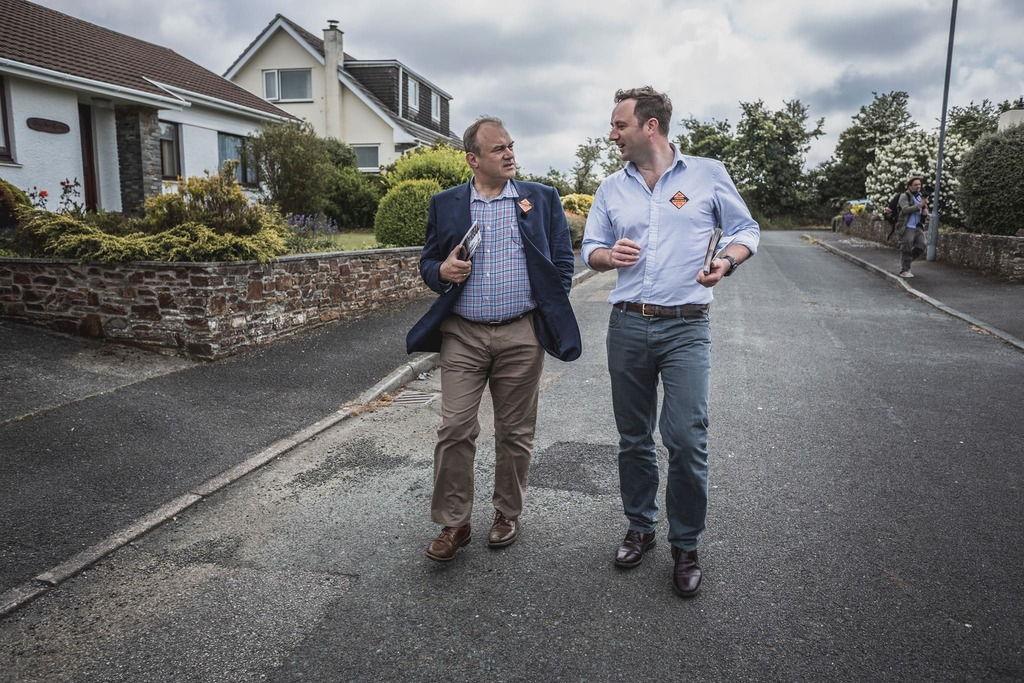 Danny Chambers shows Ed Davey MP Bude's Green Economy
