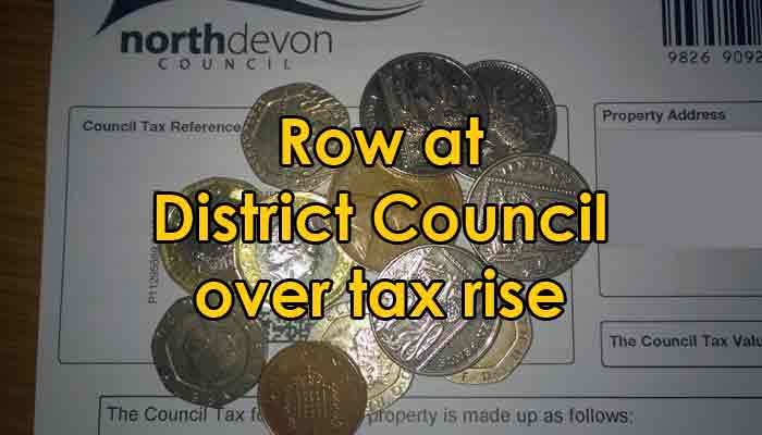 Graphic showing North Devon Council Tax demand