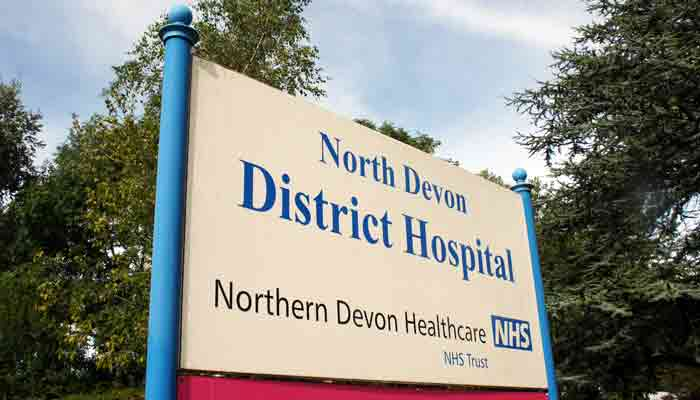 Sign for North Devon District Hospital