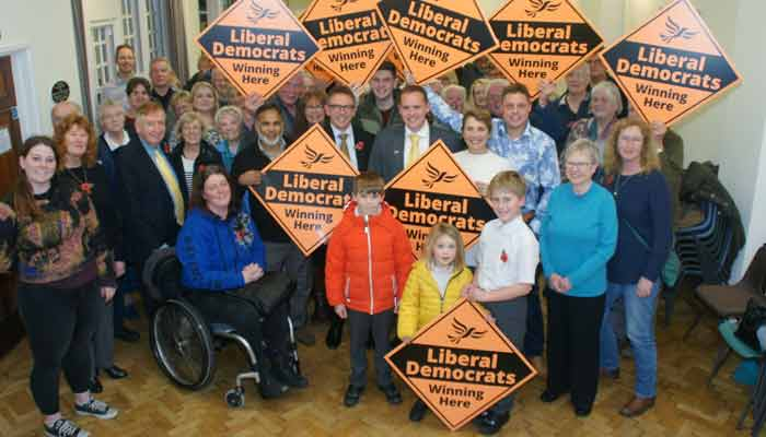 Just some of the North Devon Lib Dem Team